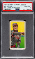 Baseball Cards:Singles (Pre-1930), 1909-11 T206 Sweet Caporal 350/30 Vic Willis (St. Louis, Throwing) PSA NM-MT 8 - None Higher! ...