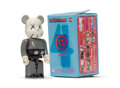 Fine Art - Sculpture, American:Contemporary (1950 to present), KAWS X BE@RBRICK. Companion 100% (Grey), 2002. Painted castvinyl. 2-3/4 x 1-1/4 x 3/4 inches (7 x 3.2 x 1.9 cm) (toy). ...