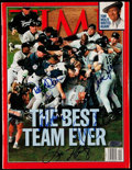 Autographs:Others, 1998 New York Yankees Multi-Signed TIME Magazine (5Signatures) with Derek Jeter)....