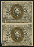 Fractional Currency:Second Issue, Fr. 1245 10¢ Second Issue Vertical Pair Very Fine.. ...
