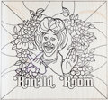 Original Comic Art:Miscellaneous, Ronald McDonald Glass Room Divider Pattern Original Art Group of 2(McDonald's/Setmakers, 1970s).... (Total: 2 Original Art)