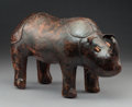 Decorative Arts, British:Other , An English Leather Rhino After a Design by Omersa, late 20thcentury. Marks: MADE IN ENGLAND, JANCRAFT. 9-3/8 x 15-1/2x...