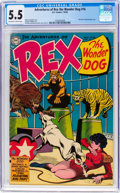 Golden Age (1938-1955):Miscellaneous, Adventures of Rex the Wonder Dog #16 (DC, 1954) CGC FN- 5.5 Off-white to white pages....