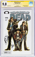Modern Age (1980-Present):Horror, The Walking Dead #3 Signature Series (Image, 2003) CGC NM/MT 9.8White pages....