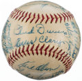 Autographs:Baseballs, 1956 Washington Senators Team Signed Baseball (28 Signatures)....