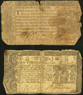 Colonial Notes:Maryland, Maryland March 1, 1770 $2/3 Very Good;. Maryland April 10, 1774 $1/3 Very Good.. ... (Total: 2 notes)