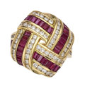 Estate Jewelry:Rings, Diamond, Ruby, Gold Ring, Charles Krypell. ...