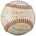 Autographs:Baseballs, 1954 Washington Senators Team Signed Baseball (27 Signatures)....