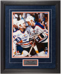 Autographs:Photos, Wayne Gretzky and Mark Messier Dual-Signed, Framed OversizedPhotograph. ...