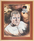 Autographs:Photos, Mickey Mantle Signed, Framed Print....