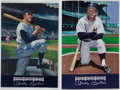 Autographs:Others, Mickey Mantle Signed Oversized Menu Lot of 2....