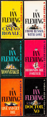 """James Bond Signet Book Lot (New American Library, 1953 - 1966). Paperback Books (12) (Multiple Pages, 4.25"""" X 7&quo..."""