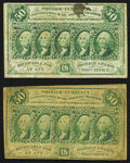 Fractional Currency:First Issue, Fr. 1312 50¢ First Issue Fine. Two Examples.. ... (Total: 2 notes)