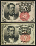 Fractional Currency:Fifth Issue, Fr. 1265 10¢ Fifth Issue Choice About New;. Fr. 1266 10¢ FifthIssue Very Fine-Extremely Fine.. ... (Total: 2 notes)
