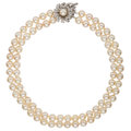 Estate Jewelry:Rings, Diamond, Cultured Pearl, White Gold Necklace. ...