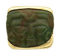 Estate Jewelry:Rings, Nephrite Jade, Gold Ring  The ring features a ...