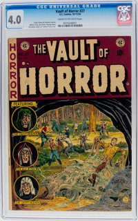 Vault of Horror #27 (EC, 1952) CGC VG 4.0 Cream to off-white pages