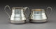 An S. Kirk & Son Pattern No. 195 Silver Sugar Bowl and Creamer, Baltimore, Maryland, 1925-1932 Marks: S. KIRK...