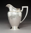 Silver Holloware, American:Water Pitchers, A Whiting Silver Water Pitcher, New York, 1911. Marks:BRAND-HIER CO., (W-griffin), STERLING,...