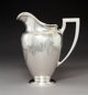 A Whiting Silver Water Pitcher, New York, 1911 Marks: BRAND-HIER CO., (W-griffin), STERLING, 8329B, 5 PINTS