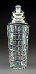 Decorative Arts, American, A Large Hawkes Vernay Pattern Silver-Mounted Cut CrystalCocktail Shaker, Corning, New York, circa 1925. Marks: ...