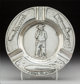 A Gorham Special Order Silver Cigar Ashtray with Pinkerton Detective Agency Motif, Providence, Rhode Island, circa 1920...