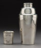 A Tiffany & Co. Silver Cocktail Shaker with a Thune Silver Cup, New York and Oslo, Norway, circa 1879-1907 Marks...