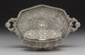 Asian:Other, A Silver Filigree Jewelry Box and Tray, possibly Cuttak, Orissa,India, circa 1900. 2-3/8 x 6-1/2 x 4-3/8 inches (6.0 x 16.5...(Total: 2 Items)