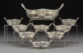 Silver Holloware, American:Bowls, A Nine-Piece Gorham Silver Nut Dish Set, Providence, Rhode Island,circa 1930. Marks to large bowl: (lion-anchor-G), STERL...(Total: 9 Items)