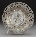 Asian:Japanese, A Japanese Silverplate Bowl with Reticulated Rim, 20th century .2-1/2 x 9-1/4 inches (6.4 x 23.5 cm). ...