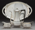 Silver Holloware, American:Coffee Pots, A Four-Piece Gorham Silver Coffee Service, Provide...