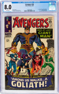 Silver Age (1956-1969):Superhero, The Avengers #28 (Marvel, 1966) CGC VF 8.0 White pages.
