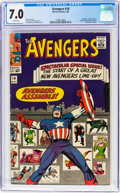 Silver Age (1956-1969):Superhero, The Avengers #16 (Marvel, 1965) CGC FN/VF 7.0 White pages....