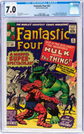 Silver Age (1956-1969):Superhero, Fantastic Four #25 (Marvel, 1964) CGC FN/VF 7.0 Off-white ...