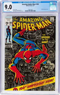 The Amazing Spider-Man #100 (Marvel, 1971) CGC VF/NM 9.0 White pages