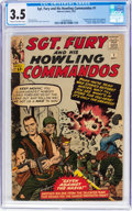 Silver Age (1956-1969):War, Sgt. Fury and His Howling Commandos #1 (Marvel, 1963) CGC VG- 3.5 Cream to off-white pages....