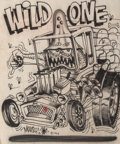 Other, Stanley Mouse (American, b. 1940). Wild One, 1963. Airbrush on paper. 17.5 x 16 in. (sheet). Signed and dated lower left...