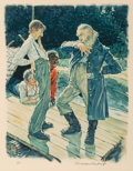Other, Norman Rockwell (American, 1894-1978). Huckleberry Finn, 1972. Complete portfolio of eight lithographs in colors. 26.75 ...