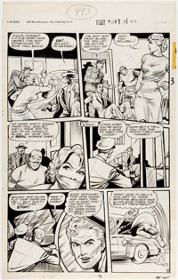 Matt Baker Fight Comics #54 Story Page 4 Kayo Kirby Original Art (Fiction House, 1948)