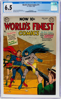 World's Finest Comics #71 (DC, 1954) CGC FN+ 6.5 Cream to off-white pages