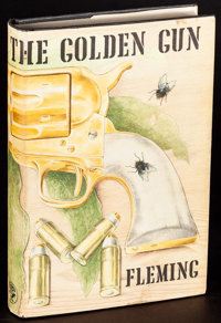 """Man with the Golden Gun by Ian Fleming (Glidrose, 1965). Very Fine+. British Hardcover Book (221 Pages, 5.25"""" X 7.7..."""