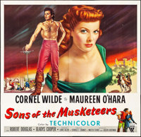 "Sons of the Musketeers (RKO, 1952). Six Sheet (80"" X 78""). Adventure"