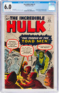 Silver Age (1956-1969):Superhero, The Incredible Hulk #2 (Marvel, 1962) CGC FN 6.0 Off-white...