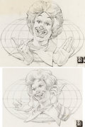 Original Comic Art:Miscellaneous, Ronald McDonald Design Drawings by Wes Cook Original Art Group of 2 (McDonald's/Setmakers, 1977).... (Total: 2 Original Art)