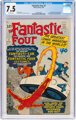 Fantastic Four #3 (Marvel, 1962) CGC VF- 7.5 Off-white pages