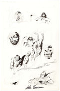 Original Comic Art:Miscellaneous, John Buscema Conan the Rogue Story Page 13 Preliminary Artwork Original Art (Marvel, 1991)....