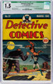Detective Comics #37 (DC, 1940) CGC Qualified FR/GD 1.5 Cream to off-white pages