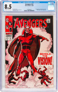 Silver Age (1956-1969):Superhero, The Avengers #57 (Marvel, 1968) CGC VF+ 8.5 Off-white to whitepages....