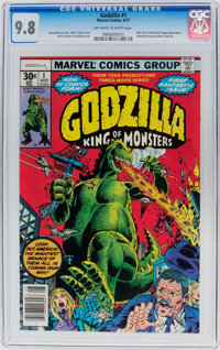 Godzilla #1 (Marvel, 1977) CGC NM/MT 9.8 Off-white to white pages