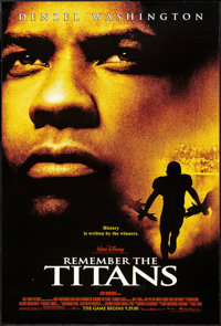 """Remember the Titans & Others Lot (Buena Vista, 2000). One Sheets (3) (27"""" X 40"""") DS Advance. Sports. ... (..."""
